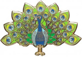 Peacock Hard Enamel Pin by , 9781441332431