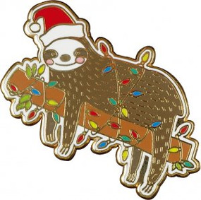 Festive Sloth Hard Enamel Pin by , 9781441333049