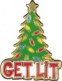 Get Lit Hard Enamel Pin by , 9781441333032