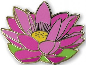 Lotus Flower Hard Enamel Pin by , 9781441331175
