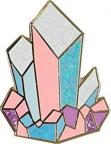 Crystals Hard Enamel Pin by , 9781441334985