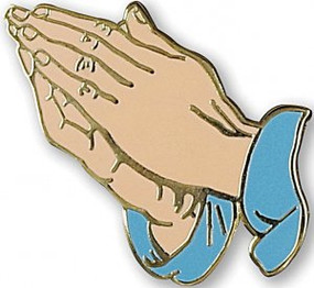 Praying Hands Hard Enamel Pin by , 9781441330987