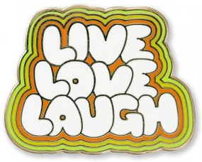 Live Love Laugh Hard Enamel Pin by , 9781441327284