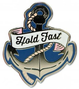 Hold Fast Hard Enamel Pin by , 9781441325198
