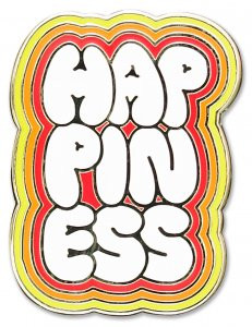 Happiness Hard Enamel Pin by , 9781441325150