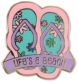 Life's a Beach Hard Enamel Pin by , 9781441325280