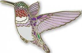 Hummingbird Hard Enamel Pin by , 9781441331168