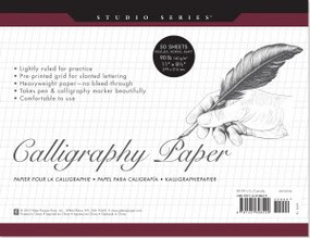 Studio Series Calligraphy Paper by , 9781441308429
