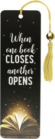 When One Book Closes Beaded Bookmark by , 9781441332615