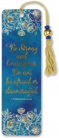 Be Strong & Courageous Beaded Bookmark by , 9781441328892