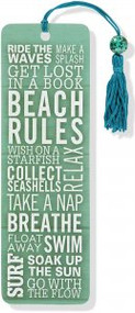Beach Rules Beaded Bookmark by , 9781441314703