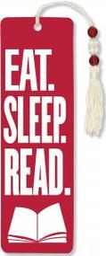Eat, Sleep, Read Beaded Bookmark by , 9781441316776