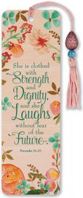 She is Clothed with Strength & Dignity Beaded Bookmark by , 9781441328861