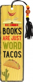 Books are Word Tacos Beaded Bookmark by , 9781441334114
