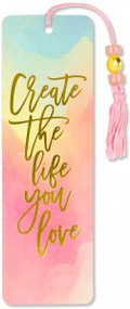 Watercolor Sunset Beaded Bookmark by , 9781441328564