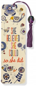 She Believed She Could Beaded Bookmark by , 9781441321749