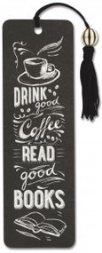 Coffee & Books Beaded Bookmark by , 9781441324238