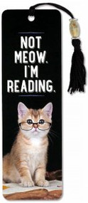 Not Meow. I'm Reading Beaded Bookmark by , 9781441328151