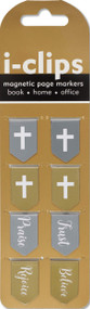 Faith i-clips Magnetic Page Markers, 9781441330949