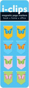 Butterflies i-Clips Magnetic Page Markers by , 9781441303776