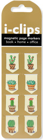 Succulents i-clips Magnetic Page Markers, 9781441324412