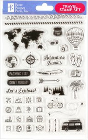 Travel Clear Stamp Set by , 9781441335241