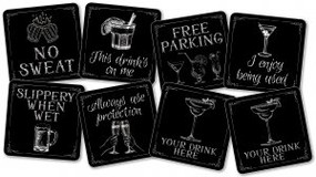 This Drink's On Me Coaster Set by , 9781441329554