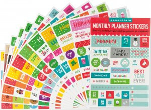 Essentials Monthly Planner Stickers by , 9781441330765