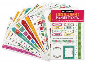 Essentials Borders & Frames Planner Stickers by , 9781441329103