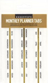 Essentials Monthly Planner Tabs by , 9781441334732