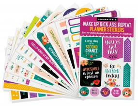 Essentials Wake Up. Kick Ass. Planner Stickers by , 9781441328717