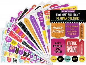 Essentials F*cking Brilliant Planner Stickers by , 9781441334084
