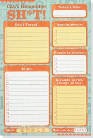Can't Remember Sh*t  Note Pad by , 9781441319630