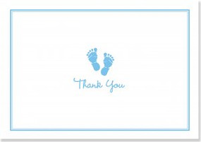 Baby Steps Blue Thank You Notes by , 9781441318947