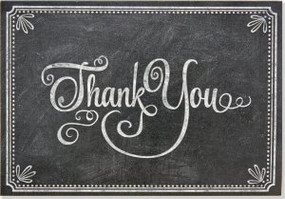 Chalkboard Thank You Notes by , 9781441317414
