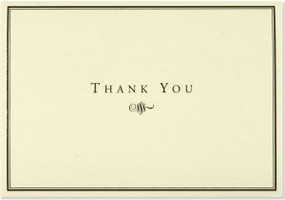 Black And Cream Thank You Notes by , 9781593591069