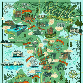 Seattle Illustrated, 644216573301