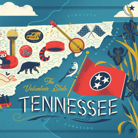 Tennessee Map, 748252412539