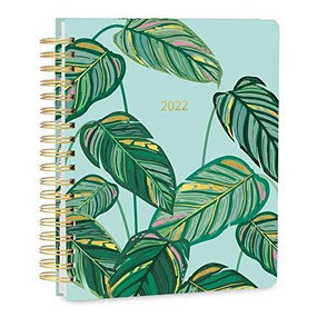 2022 Greenery Deluxe Hardcover Planner by Caroline Alfreds, 9781531914240
