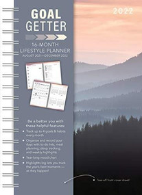 Misty Mountains Goal Getter 2022 Weekly Planner 16-Month: September 2021 - December 2022 by Sellers Publishing, Inc., 9781531913373
