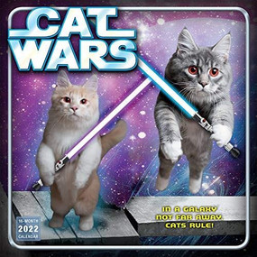 Cat Wars 2022 Wall Calendar 16-month by Sellers Publishing, Inc., 9781531912291