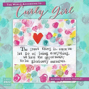The World According to Curly Girl 2022 Wall Calendar 16-month by Standley, Leigh, 9781531912819