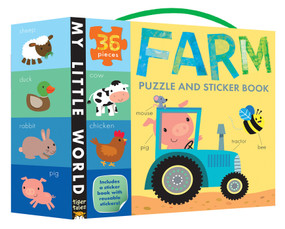 Farm Puzzle and Sticker Book by Tiger Tales, Fhiona Galloway, 9781589252028