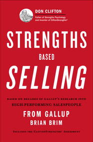 Strengths Based Selling by Brian Brim, Gallup, 9781595620484