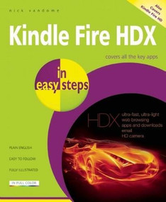 Kindle Fire HDX in easy steps by Nick Vandome, 9781840786248
