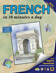 FRENCH in 10 minutes a day (Language course for beginning and advanced study.  Includes Workbook, Flash Cards, Sticky Labels, Menu Guide, Software, Glossary, and Phrase Guide.  Grammar.  Bilingual Books, Inc. (Publisher)) by Kristine K. Kershul, 9781931873291