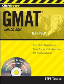 CliffsNotes GMAT with CD-ROM by BTPS Testing, 9781118077528