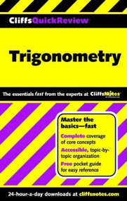 CliffsQuickReview Trigonometry by David A Kay, 9780764563898