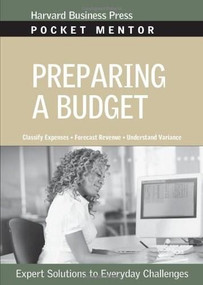 Preparing a Budget by Harvard Business Review, 9781422128848