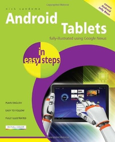 Android Tablets in easy steps by Nick Vandome, 9781840785890
